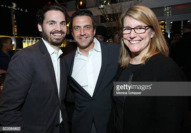 Bill Curran actor Raul Esparza and Judi Farkas attend the 2016 Tribeca Film Festival After Party For Custody Sponsored By EFFEN Vodka at Jimmy At The...