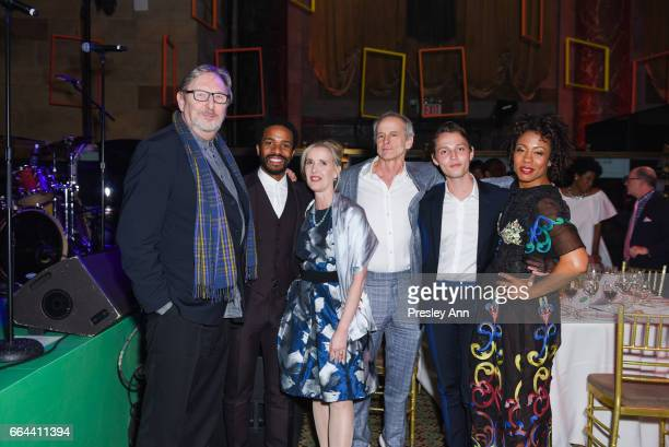 Bill Dailey Andre Holland Allyson Green Jim Calder and Karen Pittman attend Tisch School Gala 2017 at Cipriani 42nd Street on April 3 2017 in New...