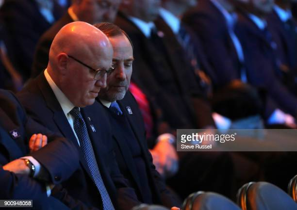 TORONTO ON JANUARY 3 Bill Daly and Gary Bettman were in attendance as well The Toronto Maple Leafs host a tribute to Maple Leafs great goaltender...
