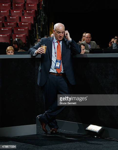 Bill Daly of the NHL attends the 2015 NHL Draft at BBT Center on June 26 2015 in Sunrise Florida