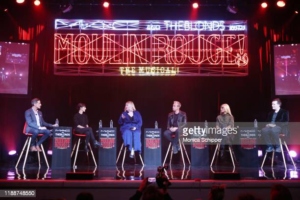 Bill Damaschke Sarah Cimino Kelly Bales David Blond and Phillipe Blond of The Blonds and Kabuki speak onstage during MAC Cosmetics and The Blonds and...