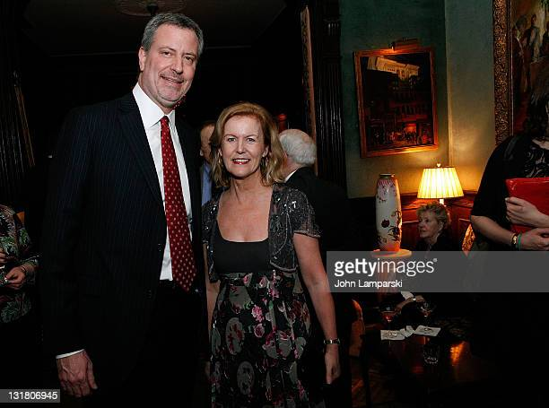 Bill de Blasio and Anne Anderson attend the Gold Medal of Honor for Lifetime Achievement in Music at The National Arts Club on January 27 2011 in New...