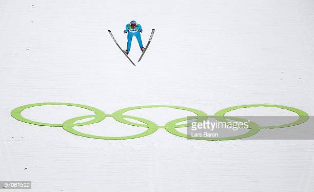 Bill Demong of the United States competes during the Nordic Combined Individual Large Hill Ski Jump on day 14 of the 2010 Vancouver Winter Olympics...