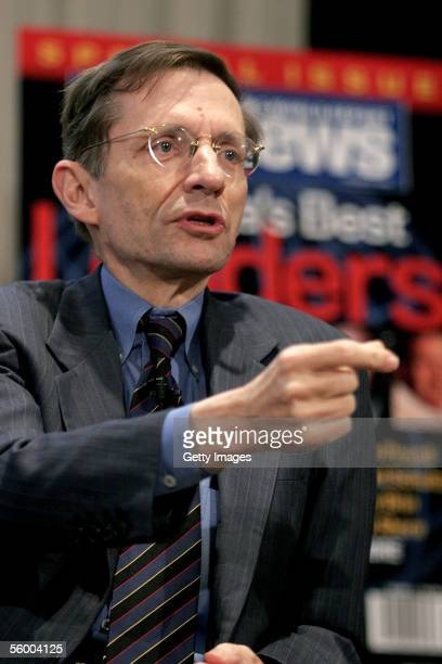 """Bill Drayton, CEO and Chair of Ashoka, speaks during the """"America's Best Leaders: How do they lead? Where are they taking us?"""" National Issues..."""