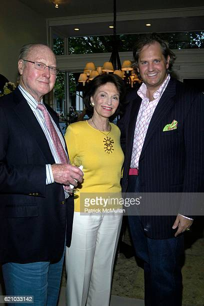 Bill Dreher Diane James and Dennis Hunt attend The Opening of Nancy Corzine Southhampton at South Hampton on May 24 2008