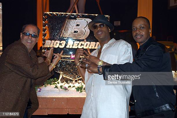 Bill Edwards Mario Winans And Qadree ElAmin during Mario Winans Signs Deal To Produce Music For BIG3 Records at The Mirage Casino Resort in Las Vegas...