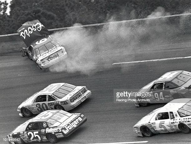 Bill Elliott crashes into the wall on the 72nd lap of the Daytona 500 Elliott would finish 35th and take home $24445 for the race