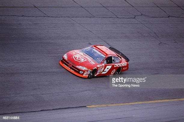 Bill Elliott drives his car during practice for the Daytona 500 at the Daytona International Speedway on February 17 2001 in Daytona Beach Florida