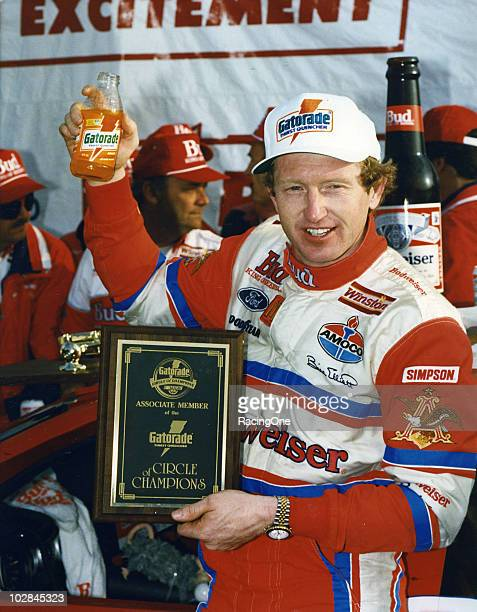 Bill Elliott receives a Gatorade Circle of Champions award prior to the Mountain Dew Southern 500 NASCAR Cup race at Darlington South Carolina
