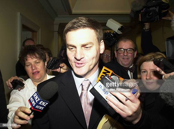 Bill English heads for National's caucas room at Parliament Tuesday where it is expected he will be named new leader of the party replacing Jenny...