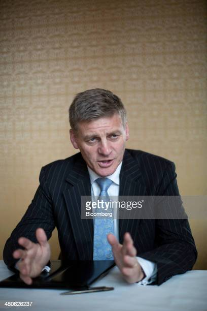 Bill English New Zealand's deputy prime minister and finance minister speaks during an interview at the Credit Suisse Asian Investment Conference in...