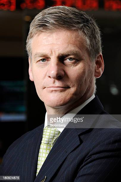 Bill English New Zealand's finance minister and deputy prime minister poses for a portrait before an interview in Singapore on Wednesday Sept 18 2013...