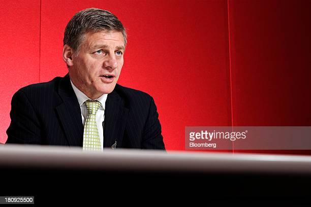 Bill English New Zealand's finance minister and deputy prime minister speaks during an interview in Singapore on Wednesday Sept 18 2013 New Zealands...
