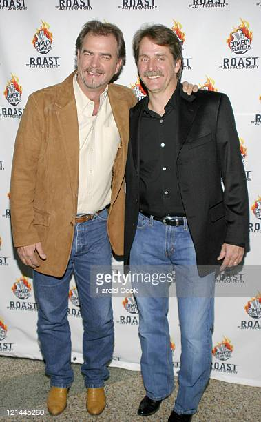 Bill Engvall and Jeff Foxworthy during Comedy Central To Roast Jeff Foxworthy at The Hammerstein Ballroom in New York New York United States