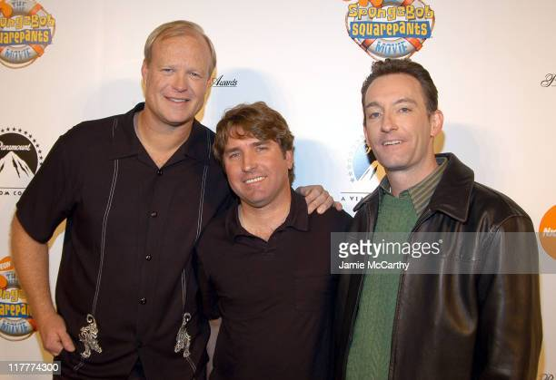 Bill Faggerbakke the voice of 'Patrick Starfish' Stephen Hillenburg creator and Tom Kenny the voice of 'SpongeBob SquarePants'