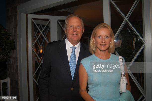 Bill Finneran and Elsie Nelson attend Frances Hayward Dinner in Celebration of The American Associates of The Royal Academy Trust at Grey Gardens on...