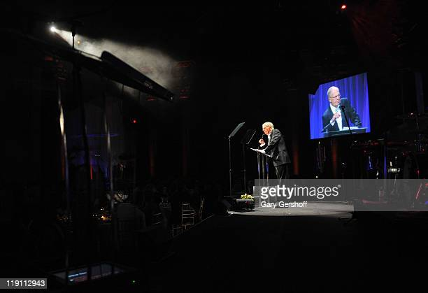 Bill Finneran speaks onstage during Operation Smile as they honor Santo Versace at The 2011 Smile Event at Cipriani Wall Street on May 5 2011 in New...