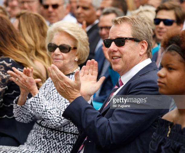 Bill Ford Ford Motor Company Executive Chairman and his mother Martha applaud at an event where Ford announced their plans to renovate the historic...