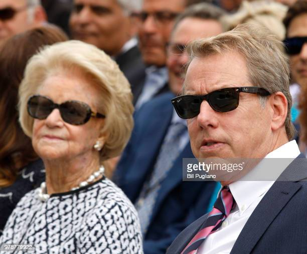 Bill Ford Ford Motor Company Executive Chairman and his mother Martha listen to a speaker at an event where Ford announced their plans to renovate...