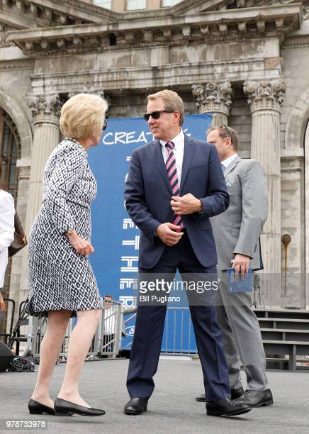 Bill Ford Ford Motor Company Executive Chairman stands in front of the historic 105year old Michigan Central train station with his mother Martha...