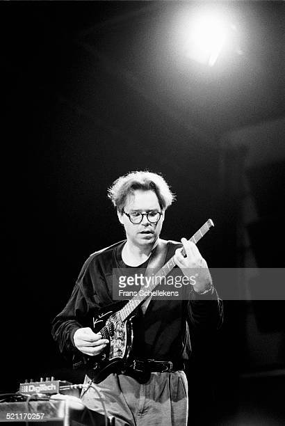 Bill Frisell, guitar, performs at the BIM huis on June 3rd 1992 in Amsterdam, Netherlands. He is playing a Klein headless guitar.