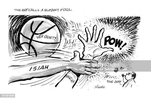 Bill Gallo Cartoon for THE REF CALLS A BLATANT FOUL for Anusha Browne Sanders verdict