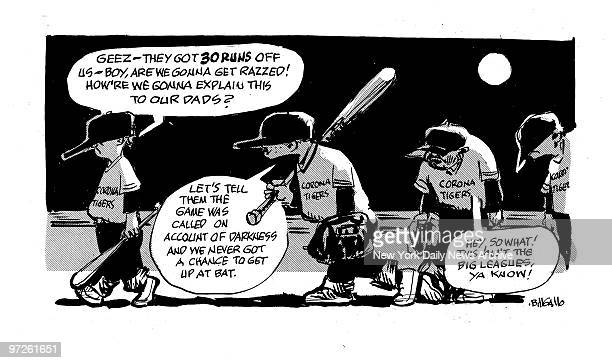 Bill Gallo cartoon for 8/24/2007 So you see It Really is a kids game