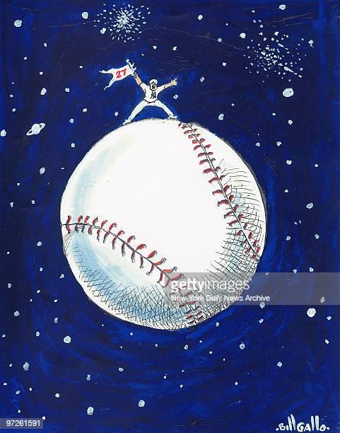 Bill Gallo cartoon November 8 2009 Top of the World New York Yankees win 27th World Series Championship