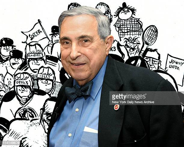 Bill Gallo with the playful hand that brought to life cartoon characters such as Basement Bertha Yuchie and General Von Steingrabber