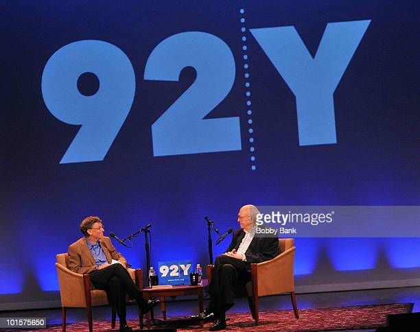 Bill Gates and his father Bill Gates, Sr. Attend Bill Gates: A Conversation with My Father at the 92nd Street Y on June 2, 2010 in New York City.