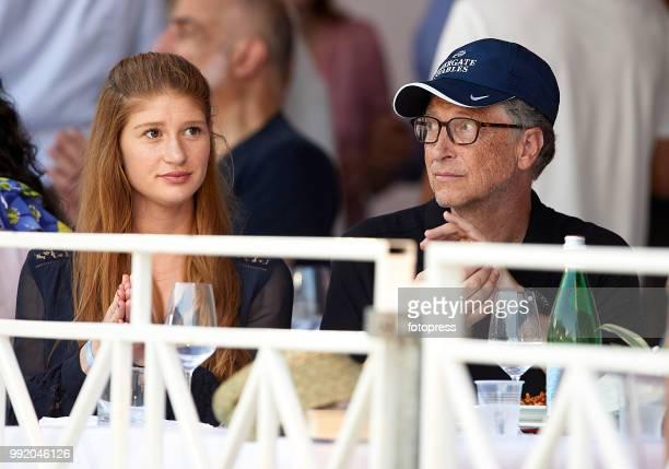 Bill Gates and Jennifer Gates attend Global Champions Tour of Monaco at Port de Hercule on June 30 2018 in MonteCarlo Monaco
