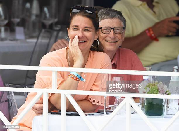Bill Gates and Melinda Gates attend Global Champions Tour of Monaco 2017 on June 23 2017 in MonteCarlo Monaco