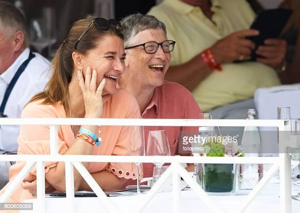 Bill Gates and Melinda Gates attend Global Champions Tour of Monaco 2017 on June 23 2017 in MonteCarlo Monaco