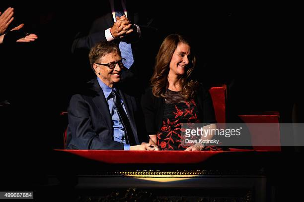 Bill Gates and Melinda Gates attends the ONE Campaign and s concert to mark World AIDS Day celebrate the incredible progress thats been made in the...