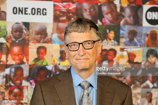 Bill Gates attend a press conference at the Federal Ministry for Economic Cooperation and Development on November 11 2014 in Berlin Germany Bill...