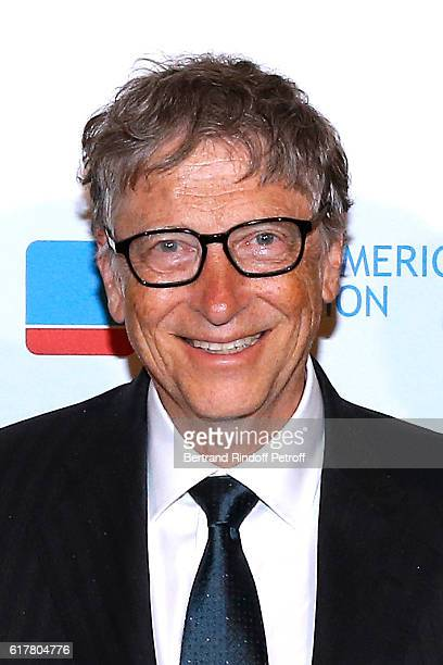Bill Gates attends the FrenchAmerican Foundation Dinner Gala at Palais de Chaillot on October 24 2016 in Paris France