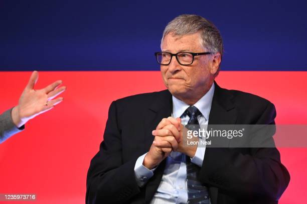 Bill Gates attends the Global Investment Summit at the Science Museum on October 19, 2021 in London, England. The summit brought together British...