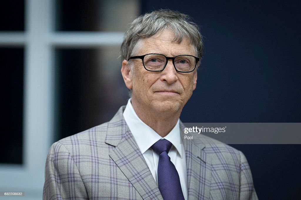 Bill Gates attends the official opening of the Barberini Museum on January 20, 2017 in Potsdam, Germany. The Barberini, patronized by billionaire Hasso Plattner, features works by Monet, Renoir and Caillebotte among others.