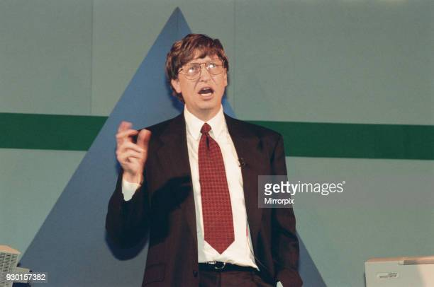 Bill Gates CEO of Microsoft seen here at 'Inside Track 95' event at the NEC to promote the Windows 95 operating system, 17th March 1995.