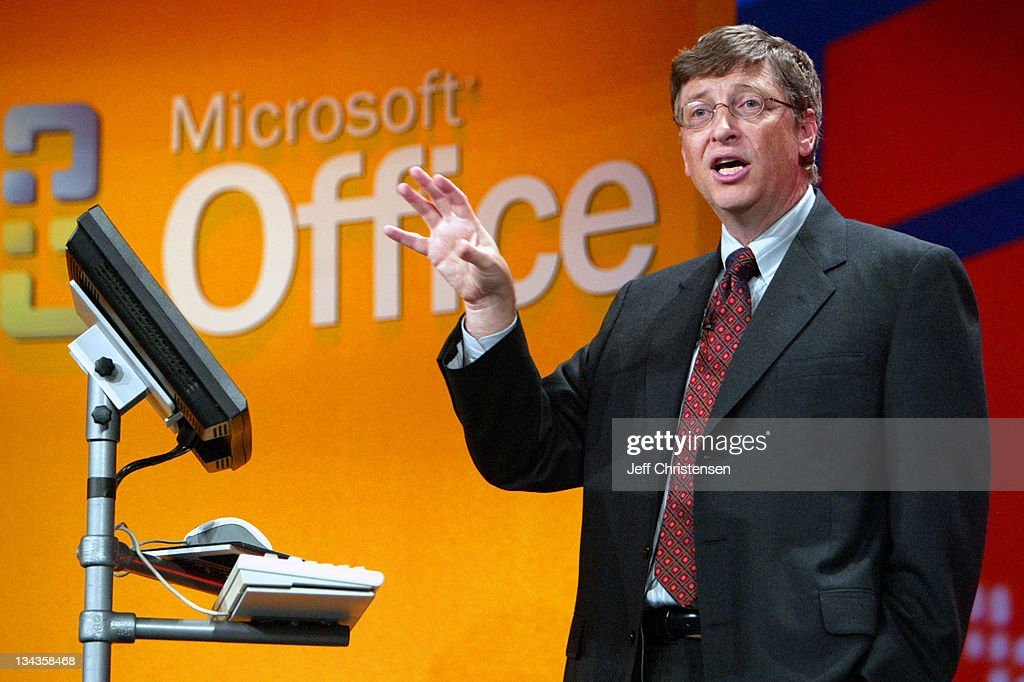 Microsoft's Bill Gates Announces the New  Office System : News Photo