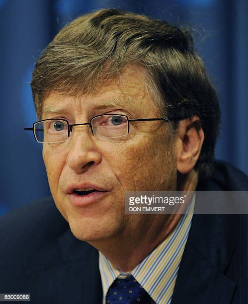 Bill Gates Chairman of the Bill Melinda Gates Foundationspeaks during a news conference on the Global Campaign for Health at the United Nations...