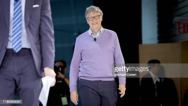 Bill Gates CoChair Bill Melinda Gates Foundation speaks onstage at 2019 New York Times Dealbook on November 06 2019 in New York City