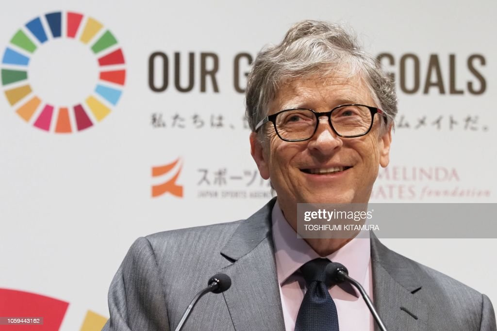 JAPAN-OLY-2020-BILL GATES : News Photo