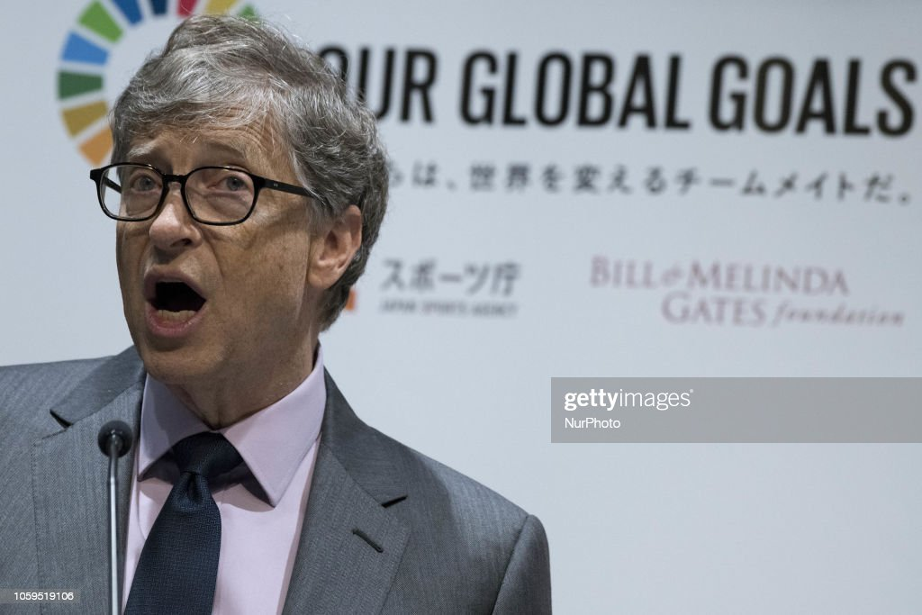 Japan Sports Agency And The Bill And Melinda Gates Foundation Announced A New Partnership : News Photo