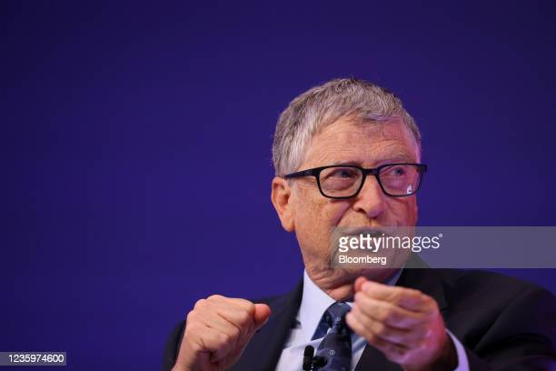 Bill Gates, co-chairman of the Bill and Melinda Gates Foundation, during the Global Investment Summit 2021 at the Science Museum in London, U.K., on...
