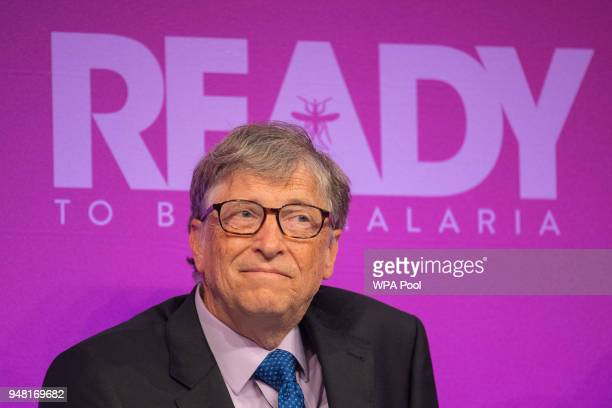 Bill Gates during the Malaria Summit in Northumberland Avenue on April 18 in London England The Commonwealth Business Forum will discuss practical...