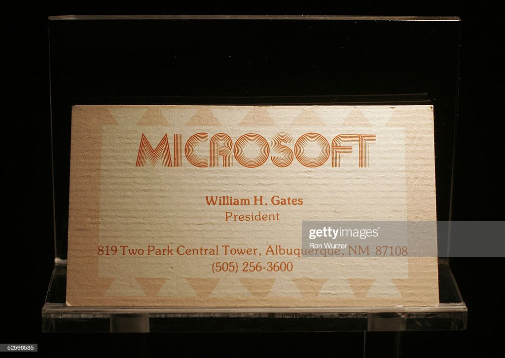 New Microsoft Visitor Center Displays Artifacts Of Software Giant : News Photo