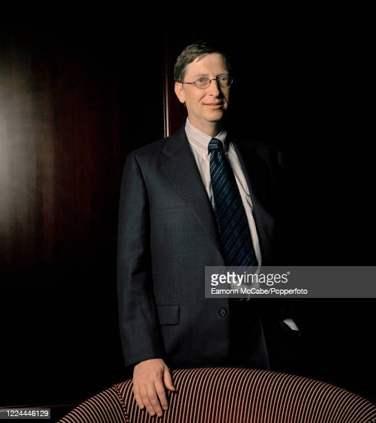Bill Gates, founder of Microsoft, circa 2004. Gates founded Microsoft in 1975 with Paul Allen, and it went on to become the world's largest personal...