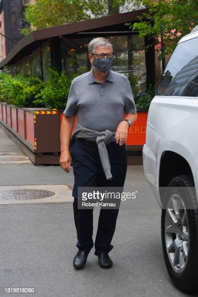 Bill Gates is seen in Manhattan on May 22, 2021 in New York City.