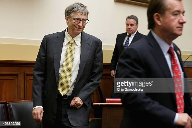 Bill Gates Microsoft Chairman and cochair of the Bill and Melinda Gates Foundation arrives for a meeting with House Foreign Affairs Committee...